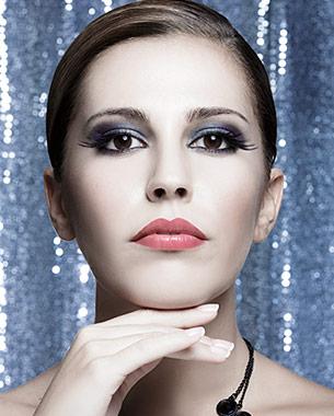 Sesión Beauty con la guapísima Ángela Guerrero con maquillaje de fiesta.